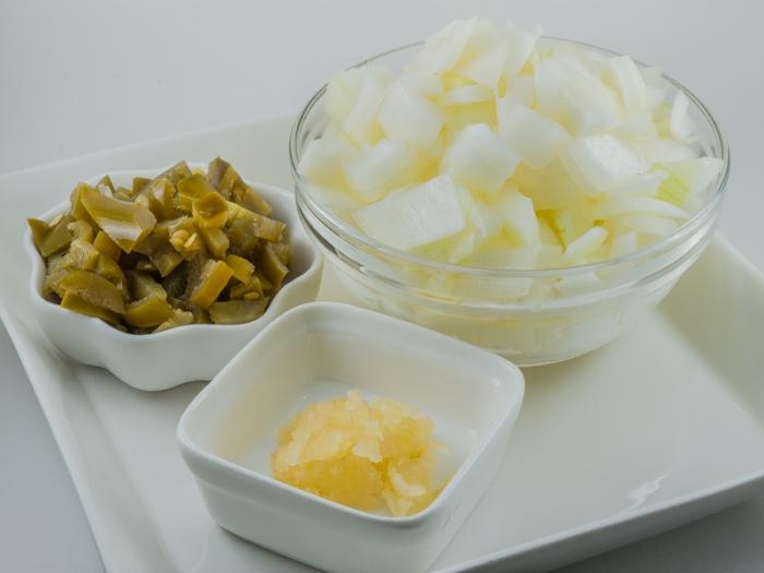 Onion, Garlic & Jalapenos